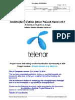 Architecture Outline - Self billing and Reclassification in AIM Telenor