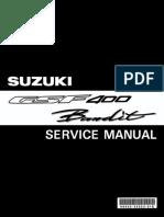 Сервисный мануал (Service Manual) на Suzuki GSF 400 Bandit 1991-1997 (на английском)