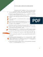 11. Esercizi su prod scalari e ortogonal
