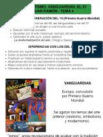Tema 4 literatura EBAU CyL. Novecentismo, Vanguardias, Grupo del 27 y Juan Ramón Jiménes