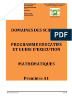 Programme Educt maths 1A1 CND 20-2