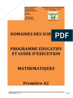 Programme Eductif maths 1A2 CND 2020