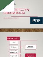 Diagnostico en Cirugia Bucal 2018