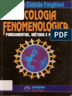 FORGHIERI, Y. C. PSICOLOGIA FENOMENOLOGICA