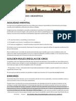 TÉCNICAS DE ESTUDIO -GRAMÁTICA