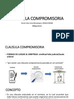 CLAUSULA COMPROMISORIA