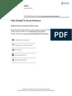 Fifty Shades of Social Distance - Barbara Thomas Coventry & Patricia Case