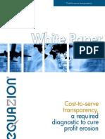 White Paper Cost to Serve