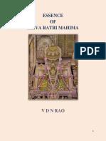 Essence of Shiva Raatri Mahima