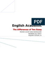 The Differences of Two Essay
