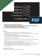 Yamaha Reface CP _ Updater V1.30