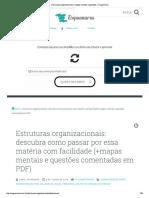 Estruturas organizacionais_ mapas mentais e questões – Esquemaria