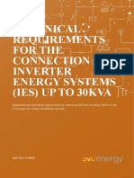 Technical Requirements for the Connection of Inverter Energy Systems (Ies) Up to 30kva