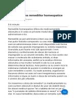 Administrarea remediilor homeopatice