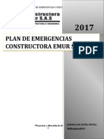 PLAN DE EMERGENCIA Constructora EMUR S.A.S
