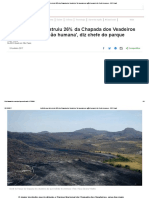 Incêndio que já destruiu 26% da Chapada dos Veadeiros 'foi causado por ação humana', diz chefe do parque - BBC Brasil