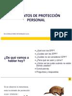 Capacitación Elementos de protección personal