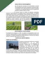 AGRICULTURA DE CENTROAMÉRICA Y PUERTOS DE CENTRO AMERICA