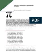 El número PI  3,14159 – Poder creador, conservador y destructor de la naturaleza