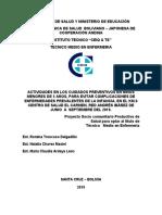 PROYECTO CUIDADOS PREVENTIVOS EN NIÑOS MENORES DE 5 AÑOS.doc