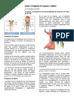 Regeneración y trasplante de órganos y tejidos