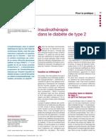Insulinothérapie dans le diabète type 2