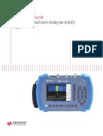 Manual analizador de espectro 5989-7847EN