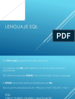Lenguaje SQL - ORACLE - 2018