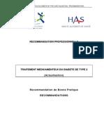 Traitements médicamenteux du diabète type 2
