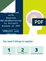 FSU-  SPRING 2020  EVR1001.1001LAB  registration instructions.ppt