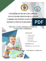 Estimulación en Parálisis Cerebral