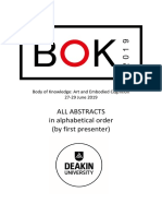 BoK 2019 Conference Presenter Abstracts