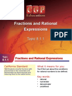 1Fracions & Rational Expressions.pps