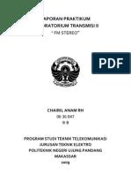 Laporan Praktikum Transmisi II - FM Stereo