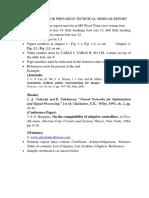 INSTRUCTIONS FOR PREPARING TECHNICAL SEMINAR REPORT
