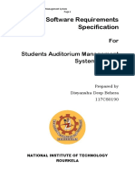 Software Requirements Specification Auditorium Management System