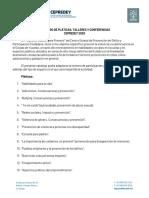 CATÁLOGO PLATICAS, TALLERES Y CONFERENCIAS CEPREDEY 2020 (1)