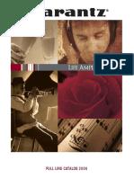 Marantz Catalogue Full Line Catalog 2006