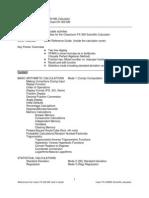 Fx 300-Ms Scientific Calculator Tutorial