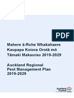 Auckland Regional Pest Management Plan 2019 - 2029