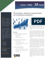 Formulación, análisis e interpretación de indicadores de gestión