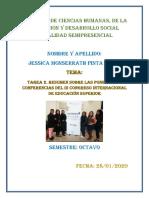 Pinta Jessica_Tarea 2_ RESUMEN SOBRE LAS PONENCIAS Y CONFERENCIAS DEL III CONGRESO INTERNACIONAL DE EDUCACIÓN SUPERIOR