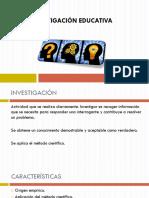 INVESTIGACIÓN EDUCATIVA CLASE 1