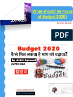Focus areas in Budget 2020