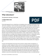 Why Literature_ _ New Republic