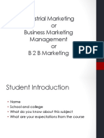 Industrial Marketing Session 1