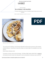Crab omelette Gourmet Traveller