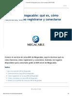 ▷ Zona WiFi de Megacable_ qué es y cómo conectarse GRATIS 2020