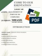 WELCOME TO PRESENTATION  LOGIC_149 [Autosaved] [Autosaved]logic 149.pptx