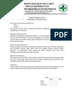 Lembar Persetujuan Pemeriksaan Kebugaran